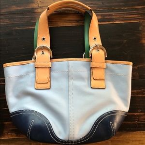 Women's small Coach tote